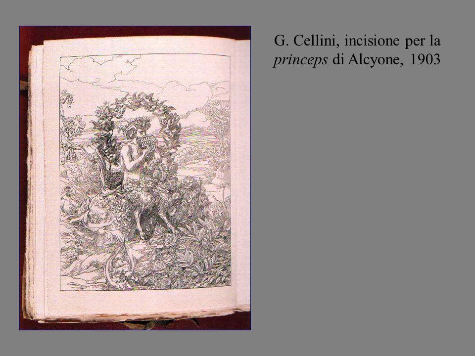 G. Cellini, incisione per la princeps di Alcyone, 1903