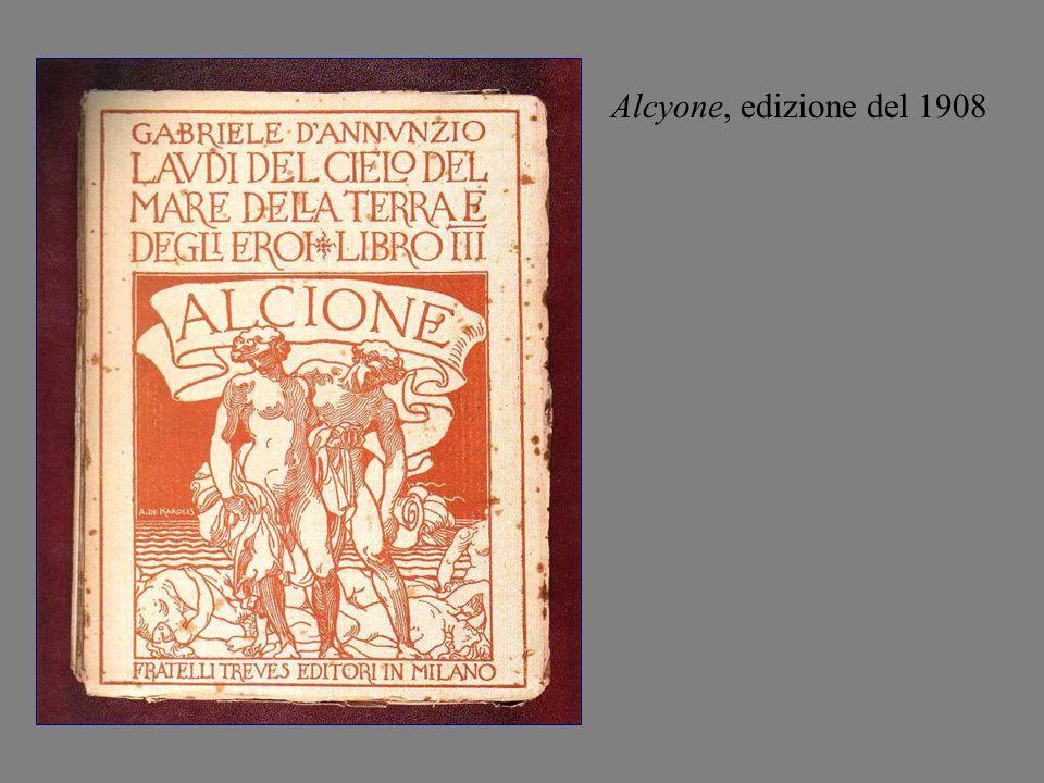 Alcyone, edizione del 1908