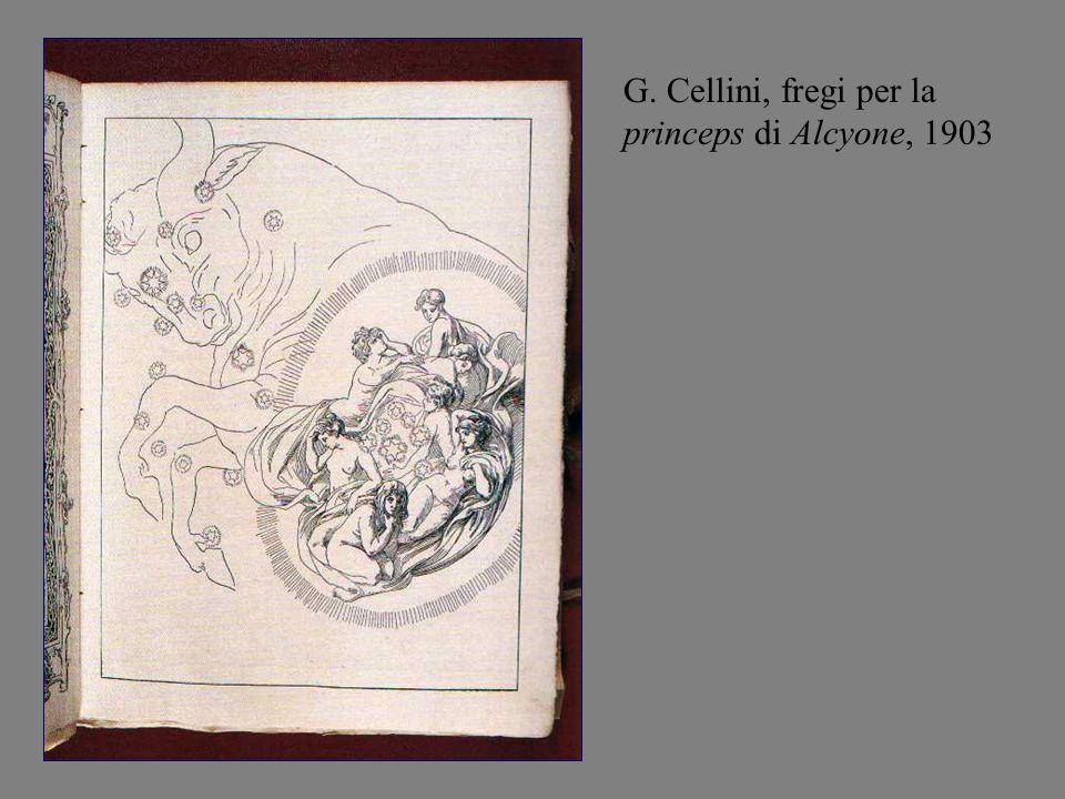 G. Cellini, fregi per la princeps di Alcyone, 1903