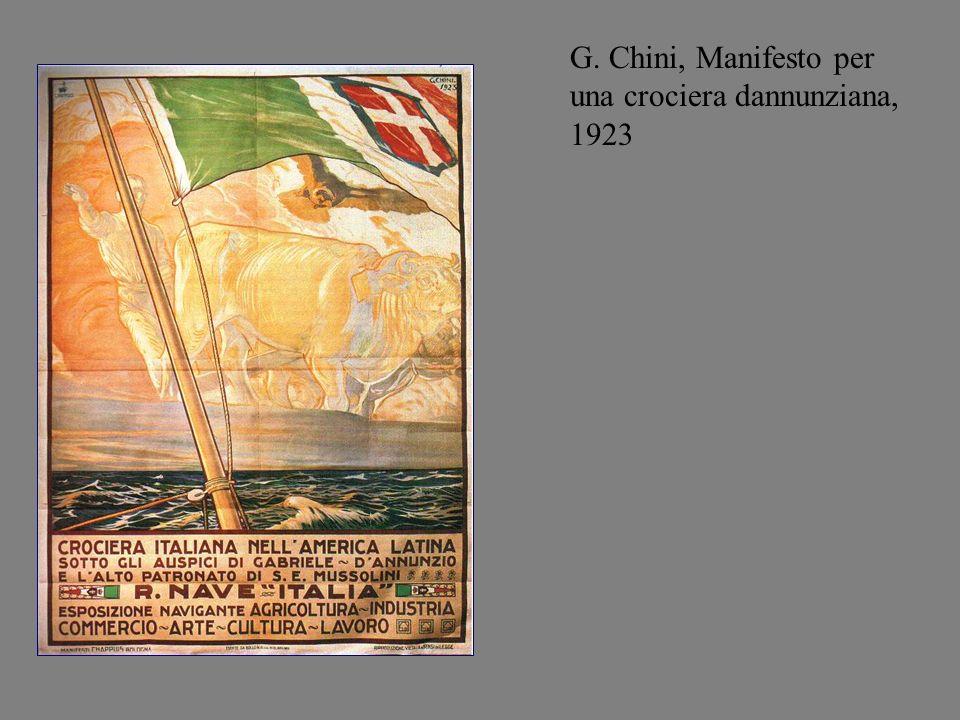 G. Chini, Manifesto per una crociera dannunziana, 1923