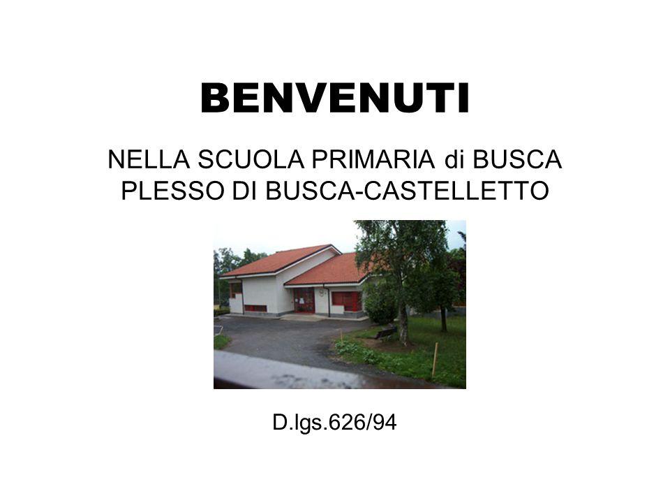 NELLA SCUOLA PRIMARIA di BUSCA PLESSO DI BUSCA-CASTELLETTO