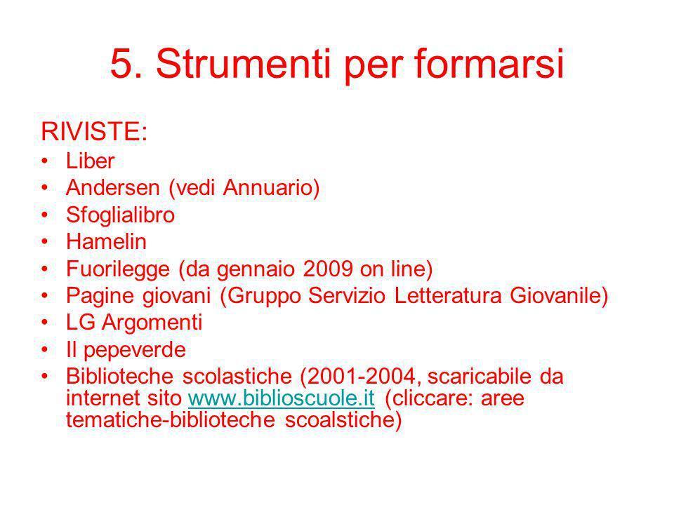 5. Strumenti per formarsi