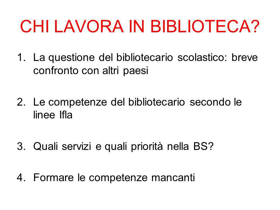 CHI LAVORA IN BIBLIOTECA