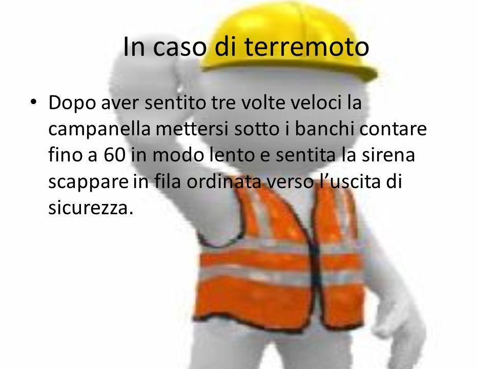 In caso di terremoto