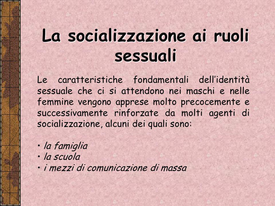 La socializzazione ai ruoli sessuali