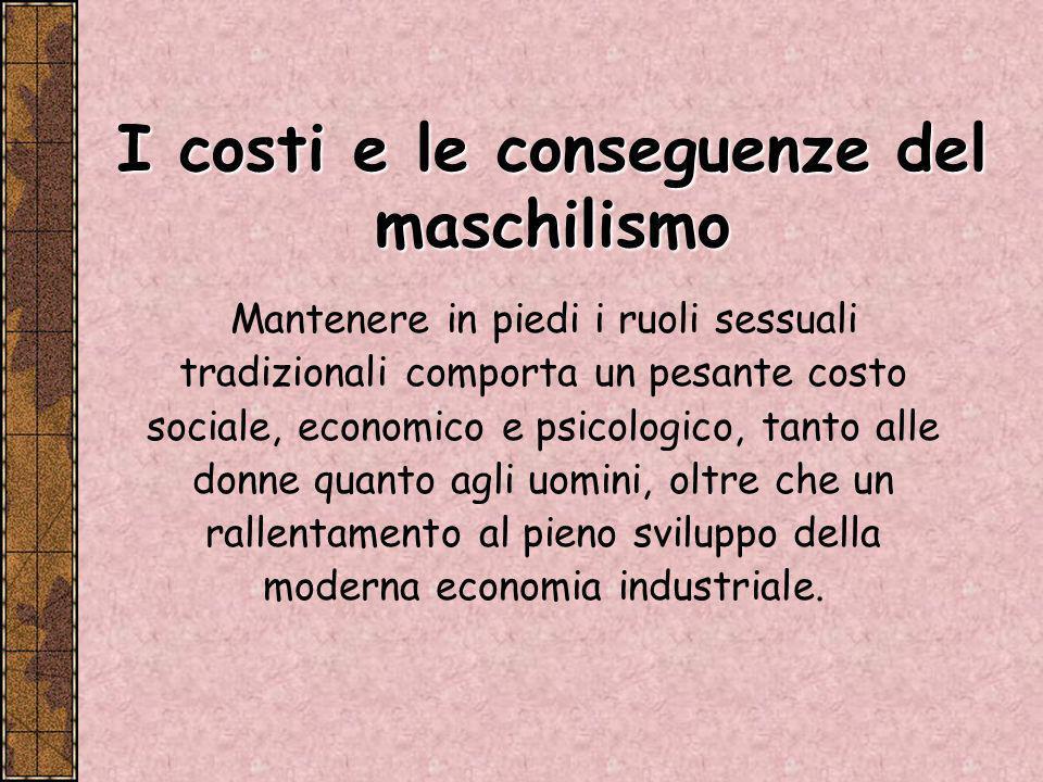 I costi e le conseguenze del maschilismo