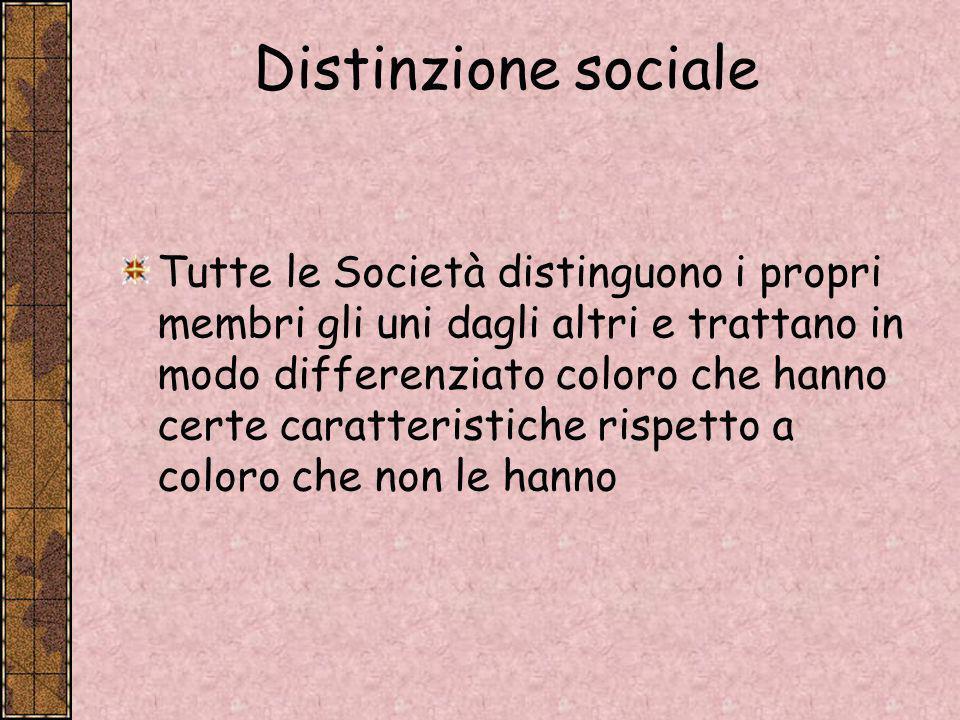 Distinzione sociale
