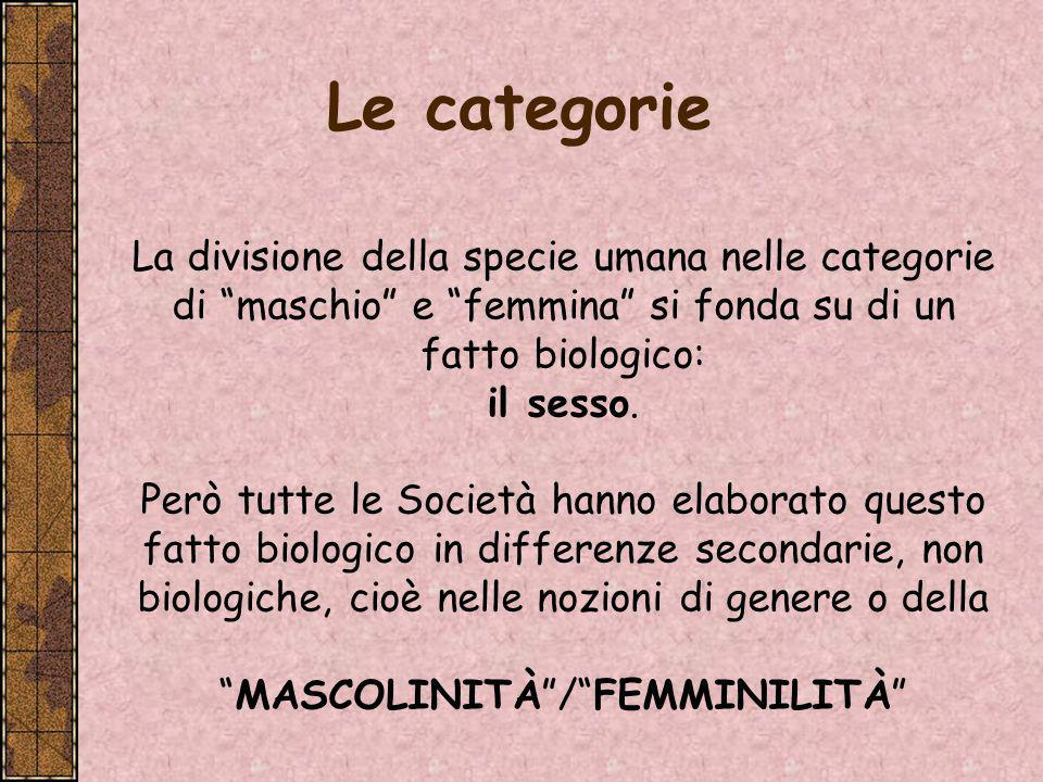 MASCOLINITÀ / FEMMINILITÀ
