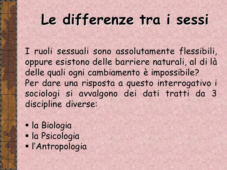 Le differenze tra i sessi