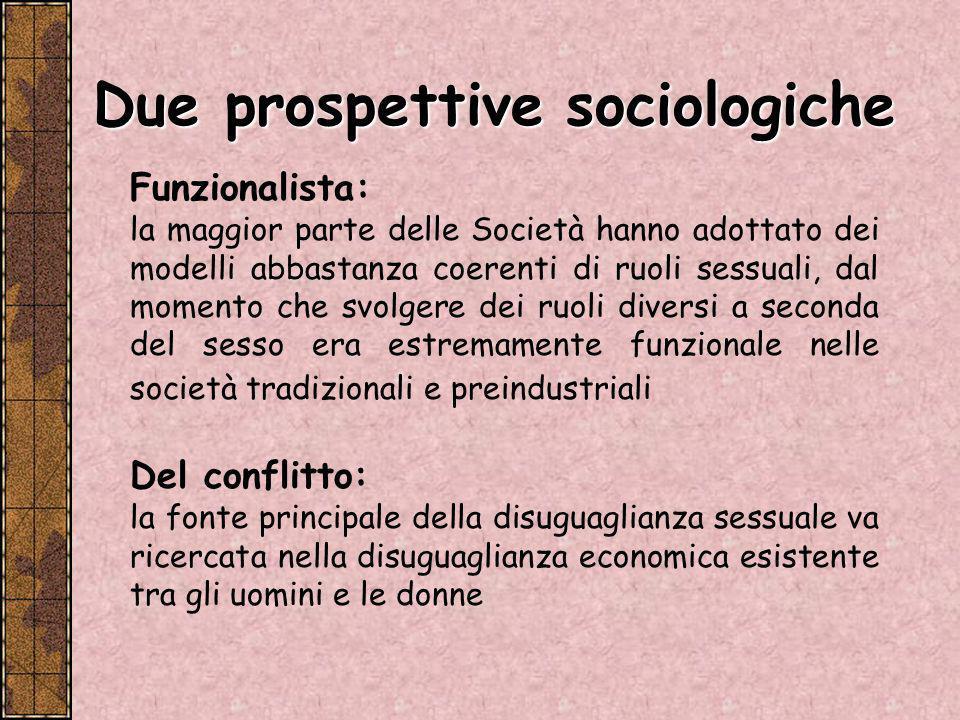 Due prospettive sociologiche