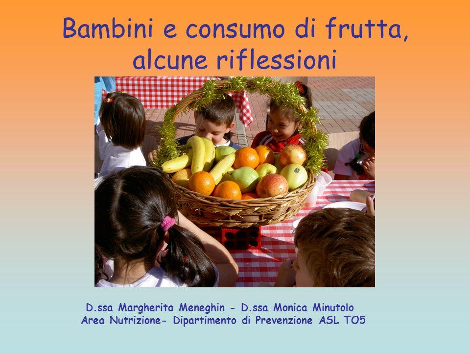 Bambini e consumo di frutta, alcune riflessioni
