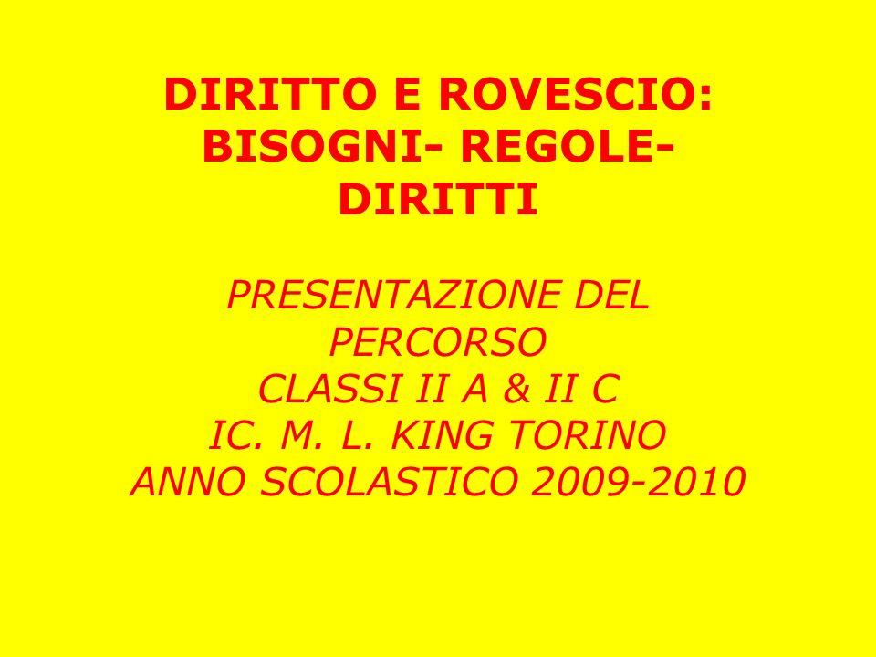 BISOGNI- REGOLE- DIRITTI