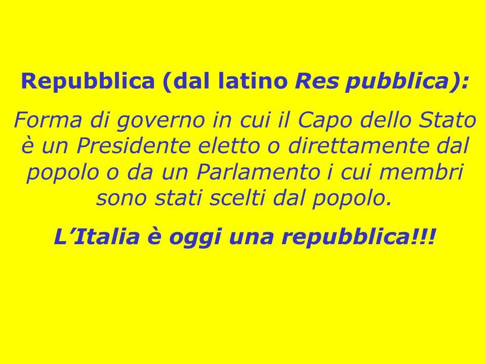Repubblica (dal latino Res pubblica):
