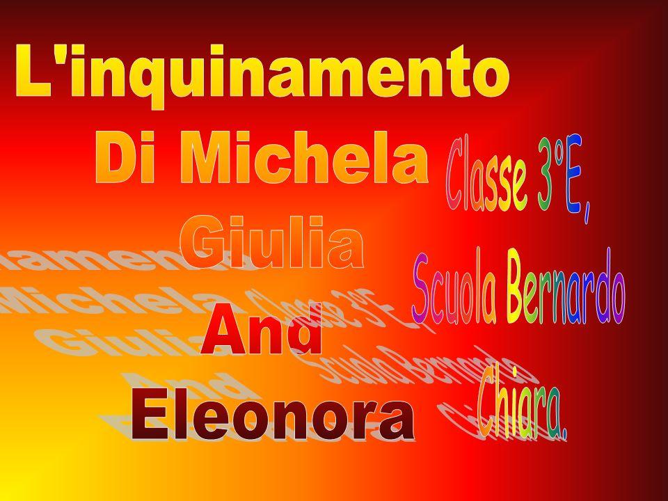 L inquinamento Di Michela Giulia And Eleonora Classe 3°E, Scuola Bernardo Chiara.