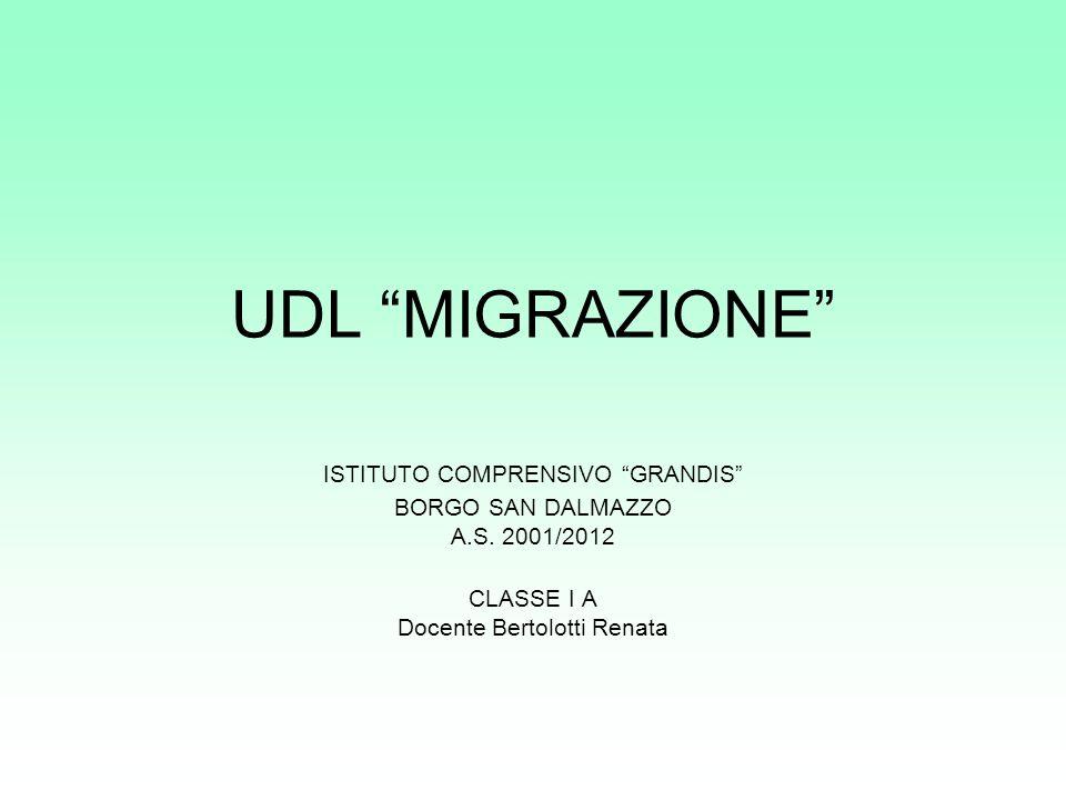 UDL MIGRAZIONE ISTITUTO COMPRENSIVO GRANDIS