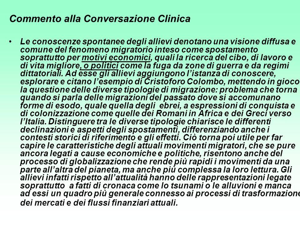 Commento alla Conversazione Clinica