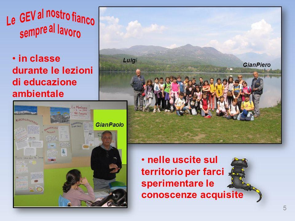 in classe durante le lezioni di educazione ambientale
