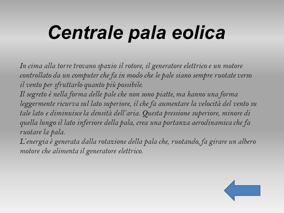 Centrale pala eolica