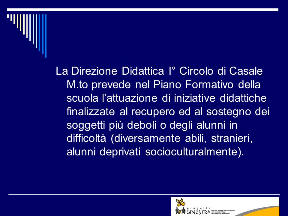 La Direzione Didattica I° Circolo di Casale M