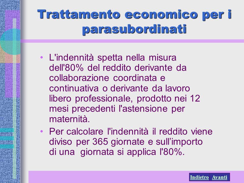 Trattamento economico per i parasubordinati