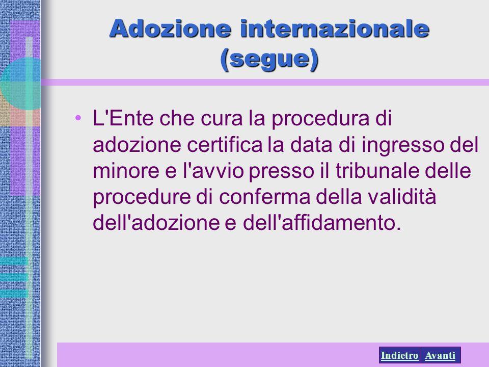 Adozione internazionale (segue)