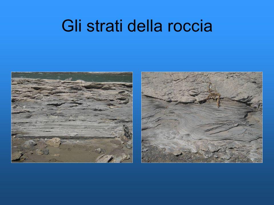 Gli strati della roccia