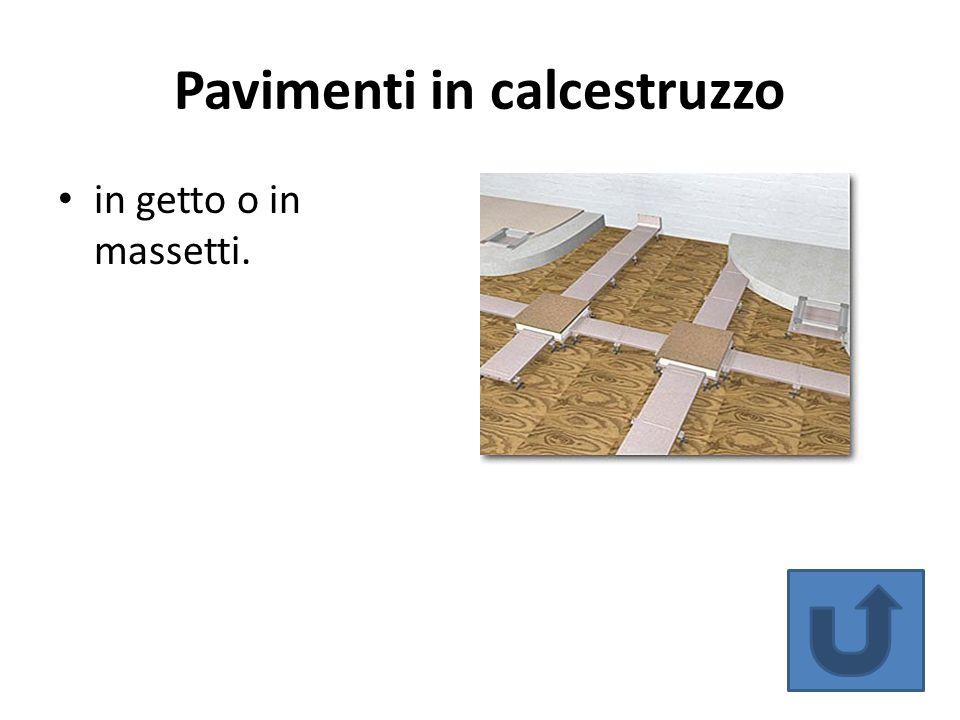 Pavimenti in calcestruzzo