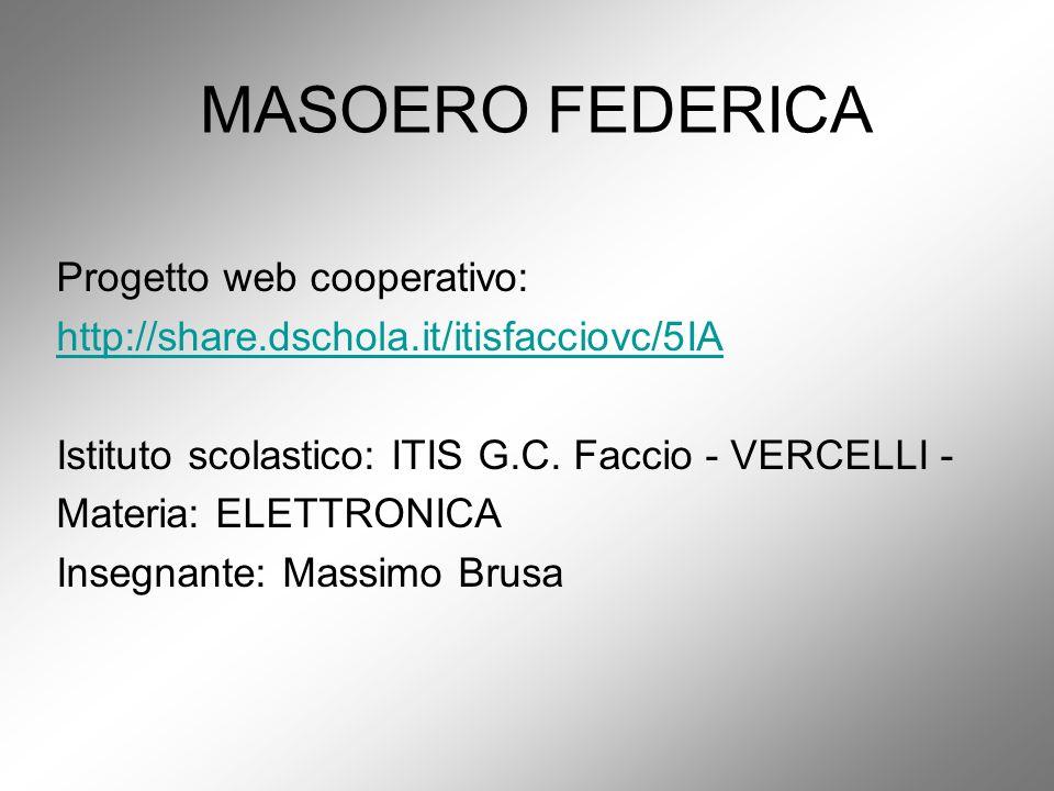 MASOERO FEDERICA Progetto web cooperativo: