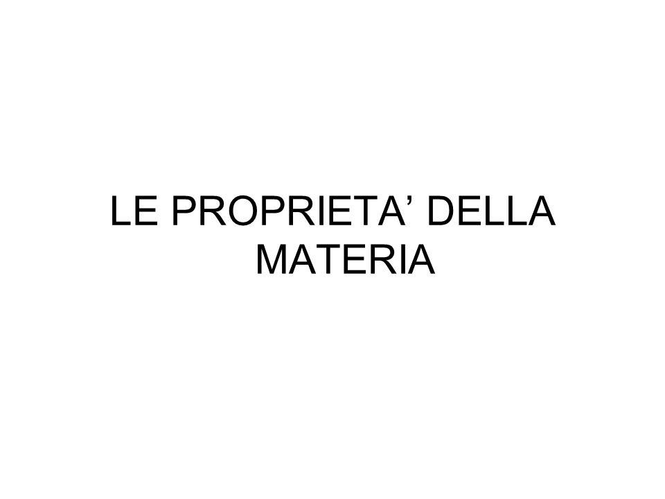 LE PROPRIETA' DELLA MATERIA