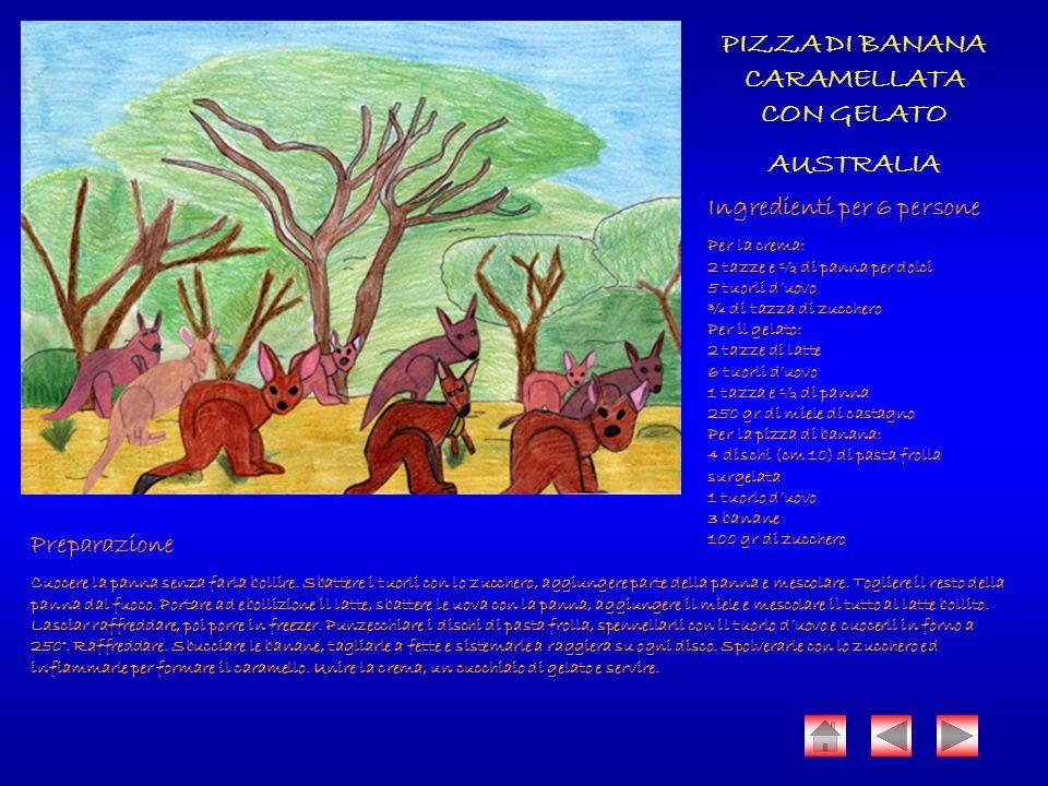 PIZZA DI BANANA CARAMELLATA CON GELATO