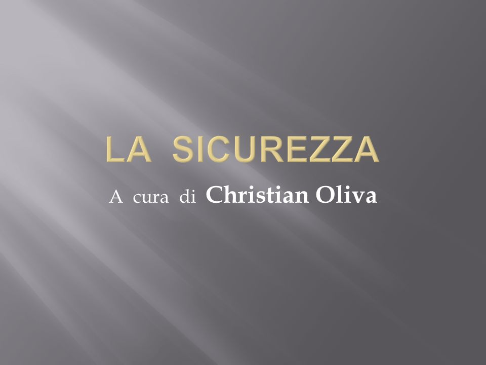 A cura di Christian Oliva
