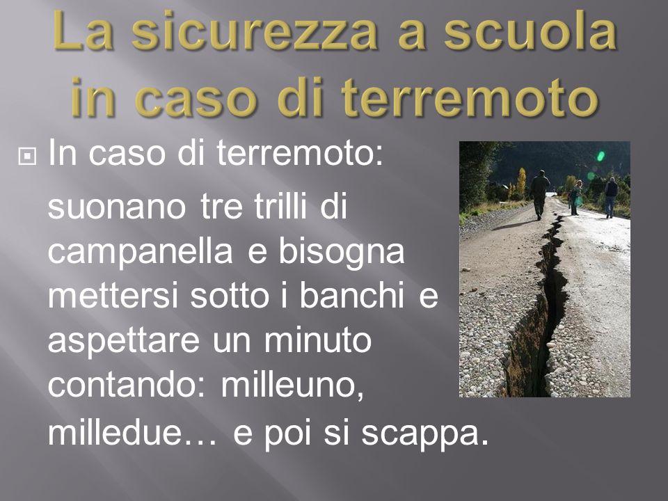 La sicurezza a scuola in caso di terremoto