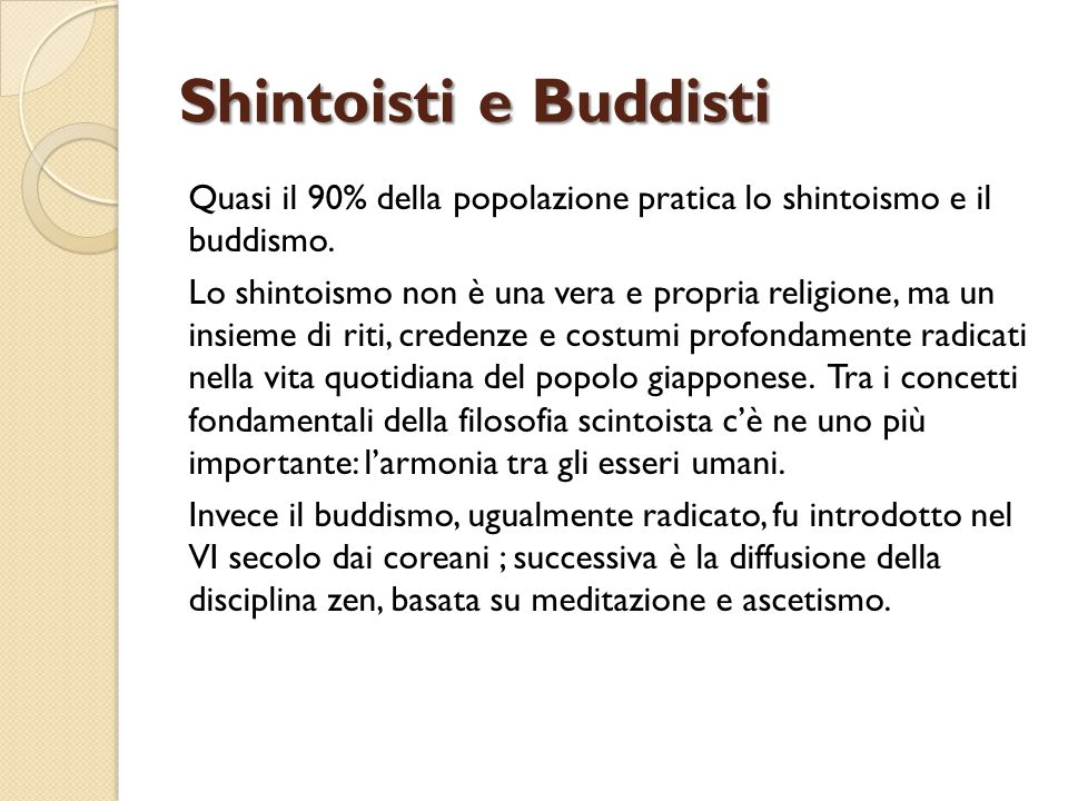 Shintoisti e Buddisti