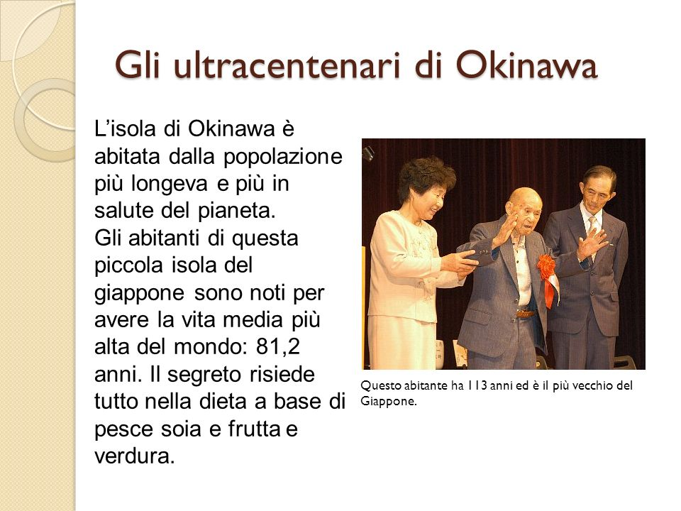Gli ultracentenari di Okinawa