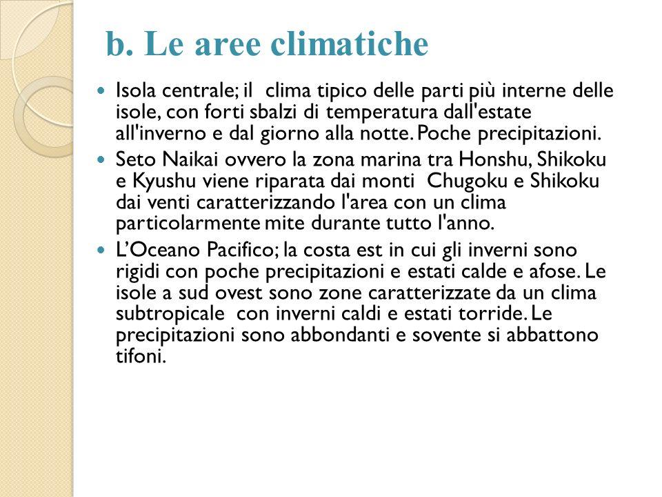 b. Le aree climatiche