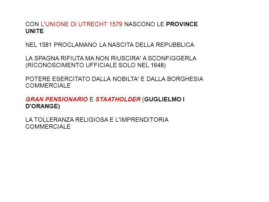 CON L UNIONE DI UTRECHT 1579 NASCONO LE PROVINCE UNITE