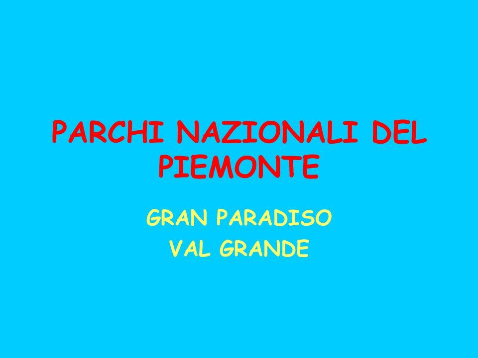 PARCHI NAZIONALI DEL PIEMONTE