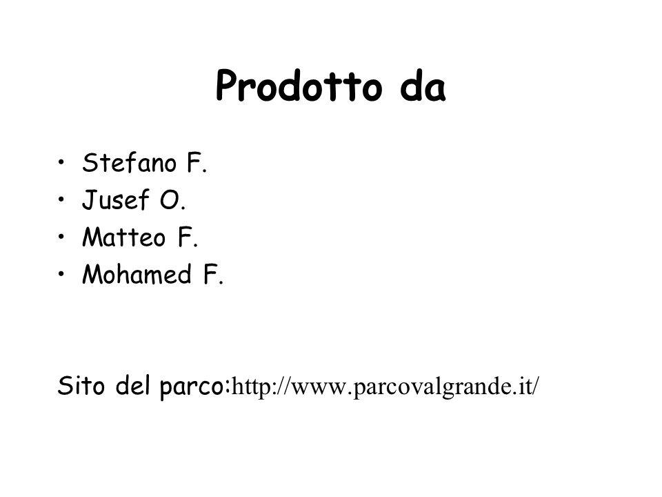 Prodotto da Stefano F. Jusef O. Matteo F. Mohamed F.