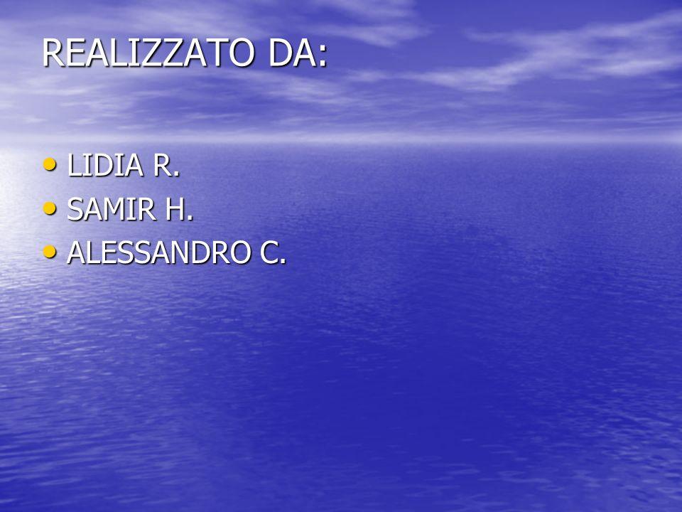 REALIZZATO DA: LIDIA R. SAMIR H. ALESSANDRO C.