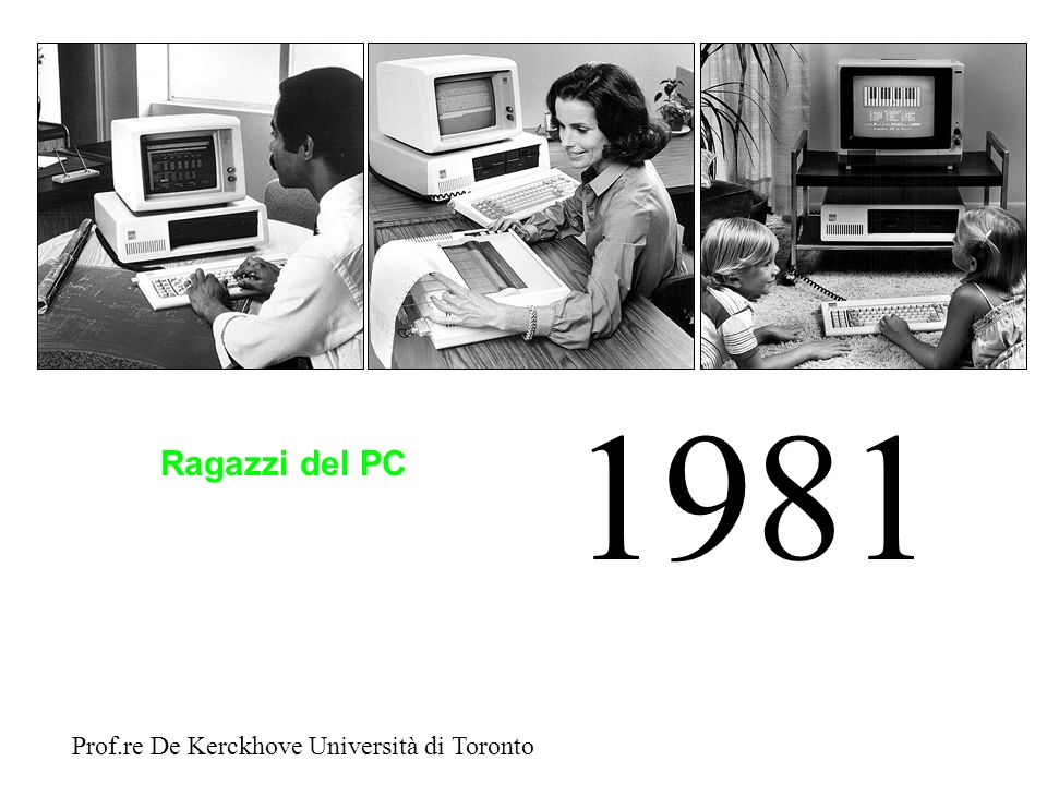 1981 Ragazzi del PC Prof.re De Kerckhove Università di Toronto