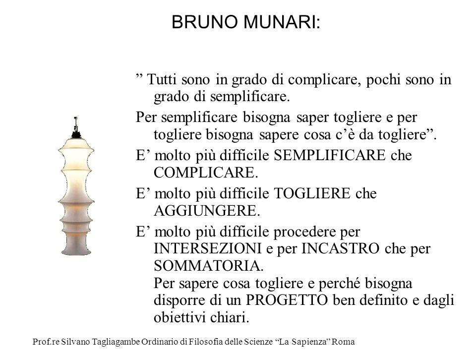 BRUNO MUNARI: Tutti sono in grado di complicare, pochi sono in grado di semplificare.