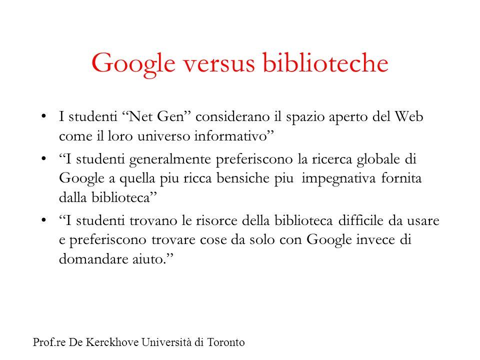 Google versus biblioteche