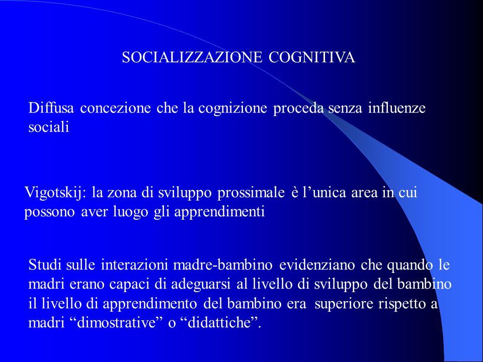 SOCIALIZZAZIONE COGNITIVA