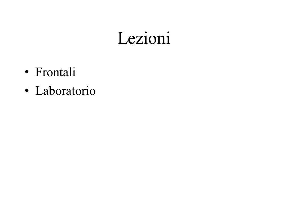 Lezioni Frontali Laboratorio