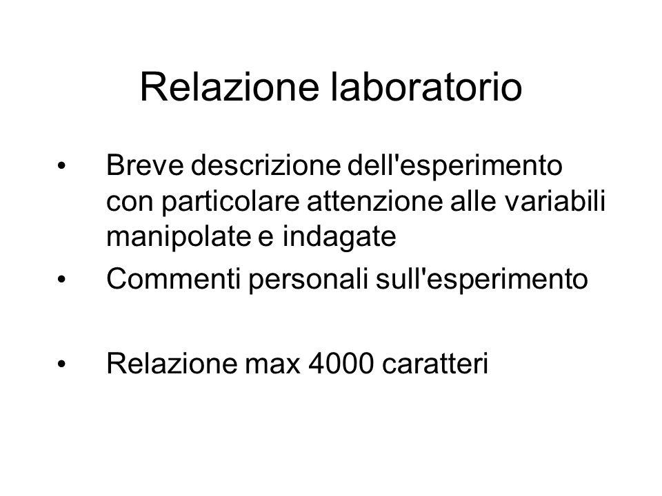 Relazione laboratorio