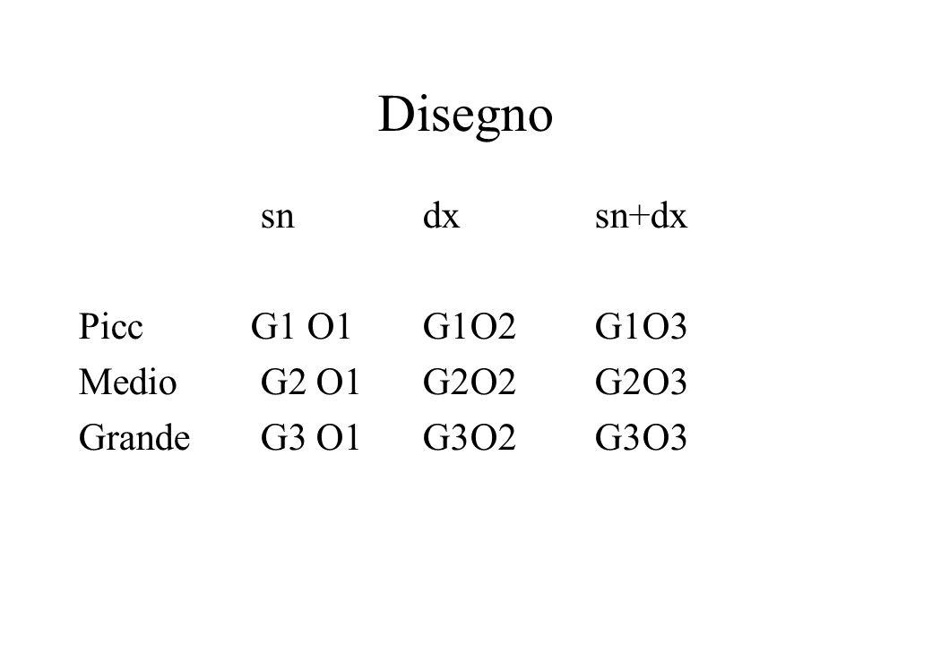 Disegno sn dx sn+dx Picc G1 O1 G1O2 G1O3 Medio G2 O1 G2O2 G2O3