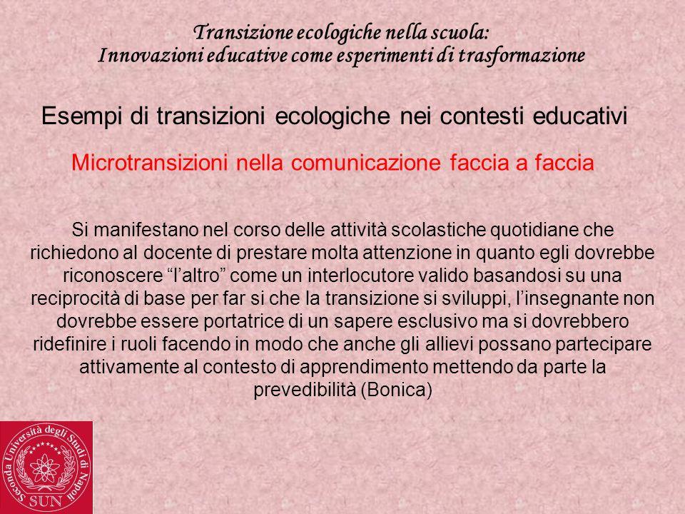 Esempi di transizioni ecologiche nei contesti educativi
