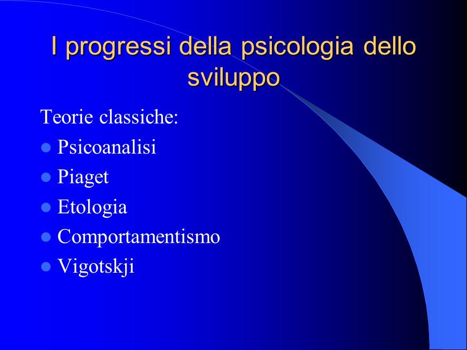 I progressi della psicologia dello sviluppo
