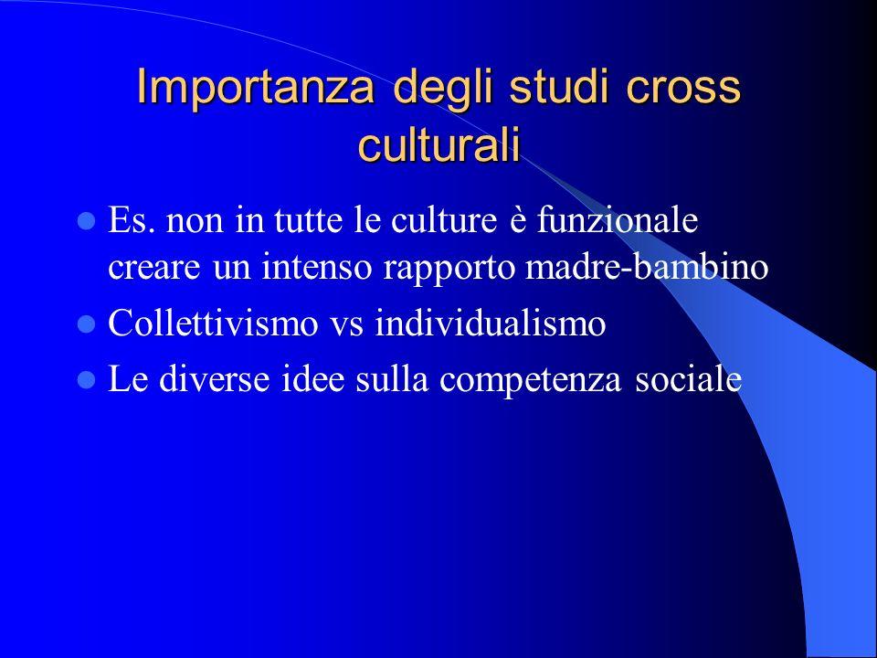 Importanza degli studi cross culturali