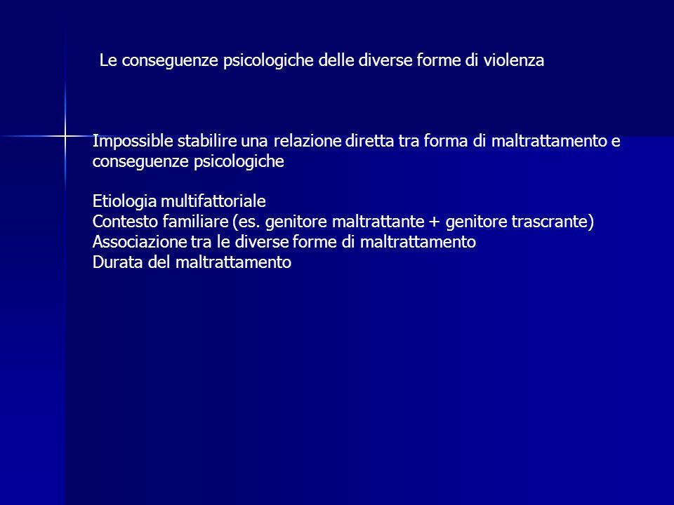 Le conseguenze psicologiche delle diverse forme di violenza